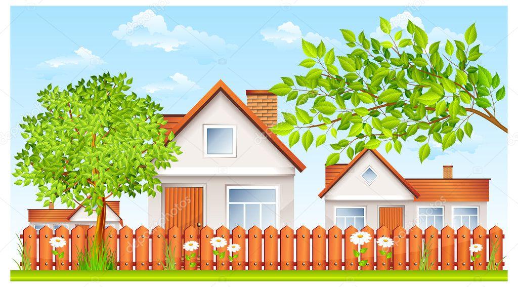Clipart Haus Und Garten