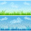 Grass and rain — Stock Vector