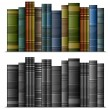 Stock Vector: Row of books