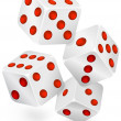 Royalty-Free Stock Vector Image: Four dices for dribbling