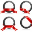 Circle with ribbon - Stockvectorbeeld