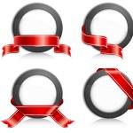 Circle with ribbon — Stock Vector