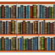 Royalty-Free Stock Vector Image: Shelf with books and frame