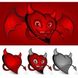 Royalty-Free Stock Vector Image: Devil face heart