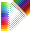 Stock Vector: Pencil rainbow