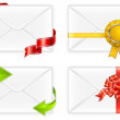 Envelopes with bow — Stock Vector #5761745