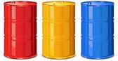 Color barrels — Stock Vector