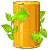 Barrel with arrow — Stock Vector