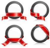 Circle with ribbon — Vector de stock