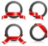 Círculo con cinta — Vector de stock