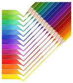 Lápiz arco iris — Vector de stock