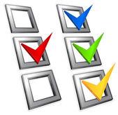 Color checkmark — Stock Vector