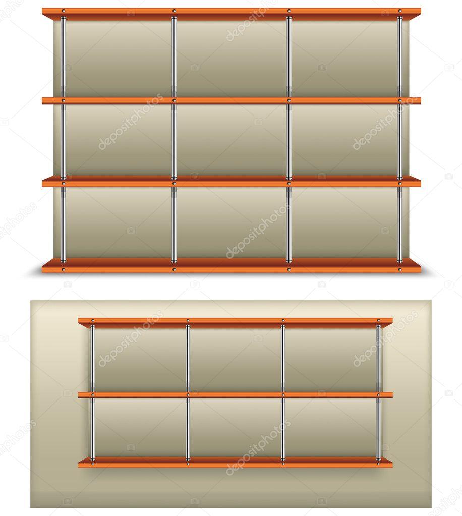 Empty Bookshelf Stock Vector CreatOR76 5760718