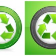 Recycle in round — Stock Vector