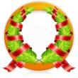 Green wreaths in round — Stock Vector #6210892
