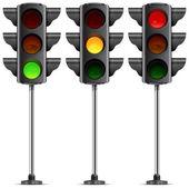 три светофора — Cтоковый вектор