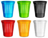 Color plastic basket — Stock Vector