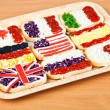 Stock Photo: Sandwiches with flags of countries