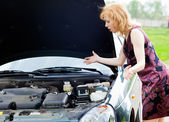 A car is broken down — Stock Photo