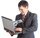 Online geld — Stockfoto