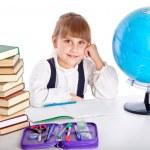 Girl is doing homework — Stock Photo #5865923