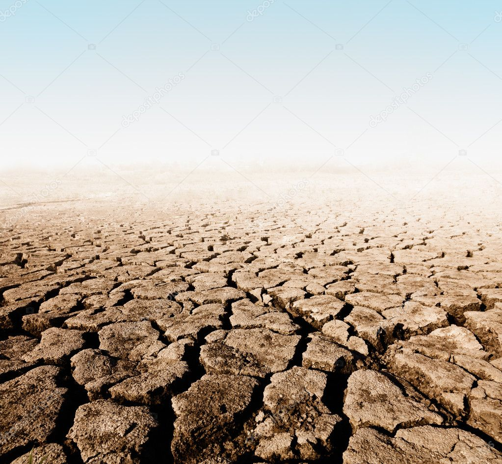 land with dry cracked ground — Stock Photo #6010515