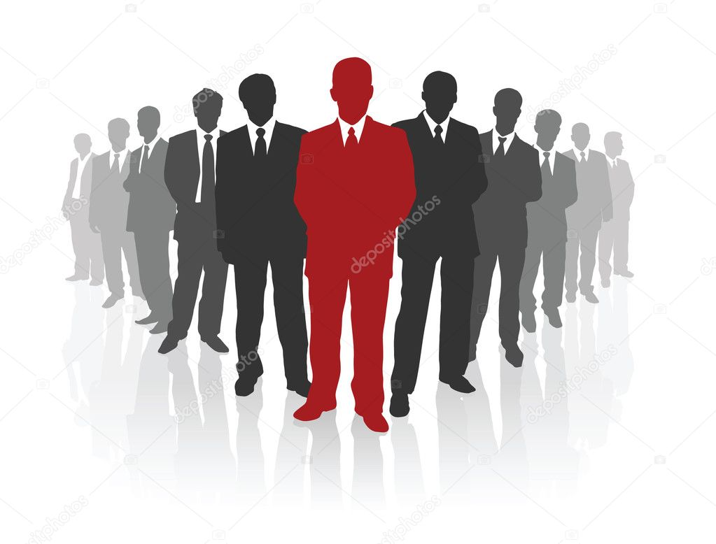 Professional business team. Vector illustration — Stock Vector #6268011