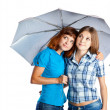 Two teen-girls with umbrella — Stock Photo #6323161