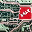 A circuit board for a sale - Stock Photo