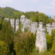 Panoramic view of Bohemian Paradise. (Cesky raj near the Turnov) — Stock Photo