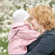 Mother with daughter in park — Stock Photo