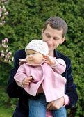 Padre con hija en el parque — Foto de Stock