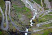 тролльстиген в норвегии — Стоковое фото