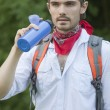 Hiker on the way — Stock Photo