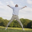 Man jumping in the air — Stock Photo