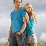 Couple in wheat field — Stock Photo #6421324