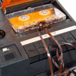 Stock Photo: Magnetic audio tape cassette recorder