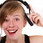 Portrait of a girl in headphones — Stock Photo #5515829