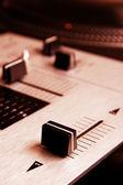 Crossfader míchání řadič — Stock fotografie