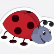 Fun cartoon ladybug — Vector de stock #5399209
