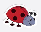 Fun cartoon ladybug — Stock Vector