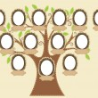 Stock Vector: Family tree
