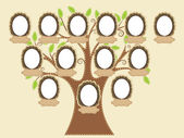 Family tree — Vettoriale Stock