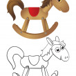 Wooden rocking horse — Stock Vector #5550312