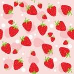 Seamless strawberry — Stock Vector