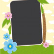 Summer tropics photo frame — Grafika wektorowa