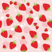 Nahtlose erdbeere — Stockvektor