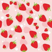Seamless strawberry — Vector de stock