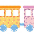 Stock Vector: Babies train