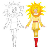 Sun man — Stock Vector